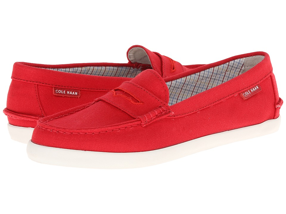 Cole Haan - Pinch Weekender (Red Canvas) Women's Slip on Shoes