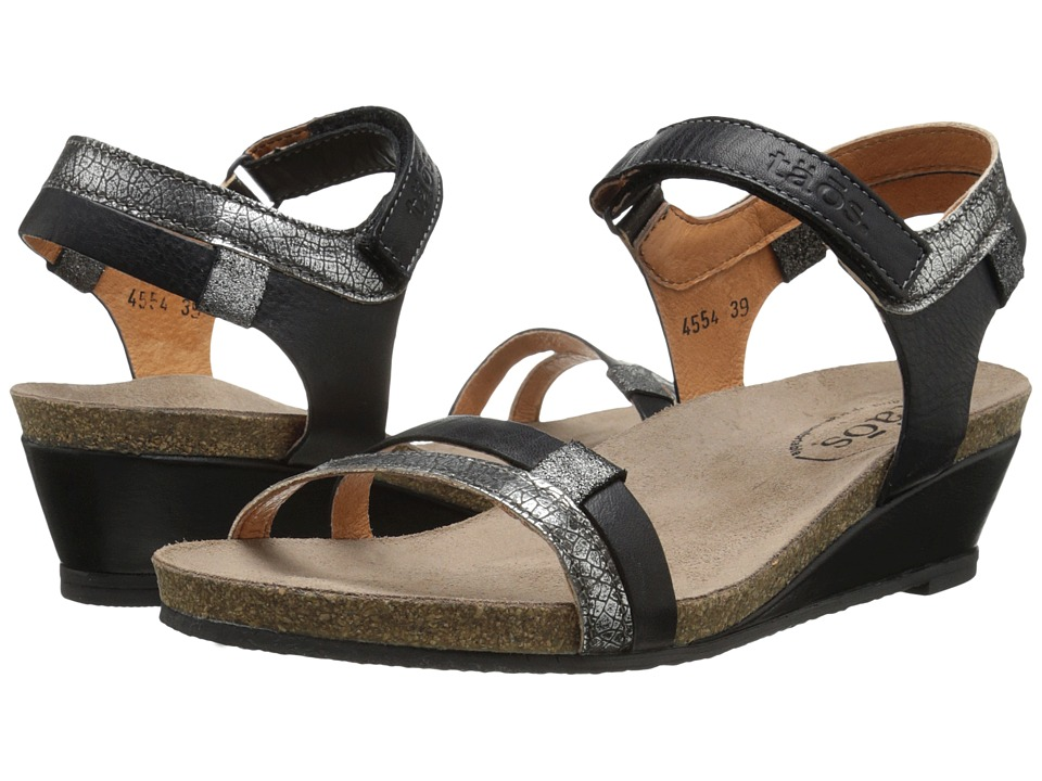taos Footwear - Gala (Black Multi) Women's Wedge Shoes