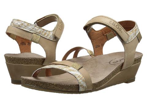 taos Footwear - Gala (Taupe Multi) Women's Wedge Shoes