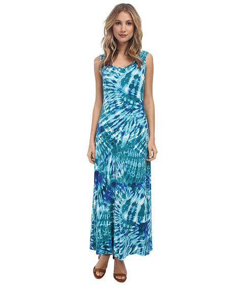 Calvin Klein - Print Maxi Dress (Sea Grass Multi) Women's Dress