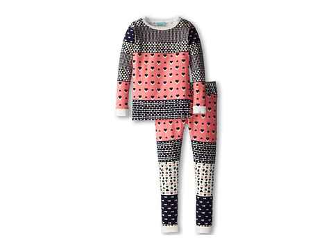 BedHead Kids - Snug Fit Long Sleeve Classic PJ (Toddler/Little Kids) (Hearts Galore) Girl