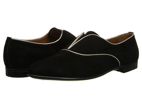 Gravati - Suede Plain Toe Slip-On (Black) Women