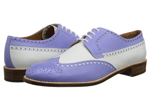 Gravati - Calf Leather Wing Tip (Lilac/White) Women's Lace Up Wing Tip Shoes