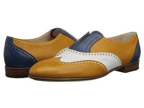 Gravati - Tri-Color Calf Leather Wing Tip (Multi) Women