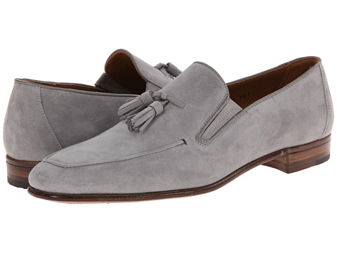 Gravati - Suede Tassel Slip-On (Grey) Men's Slip on Shoes