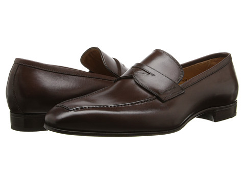 Gravati - Calf Leather Moc Toe Penny Loafer (Brown) Men