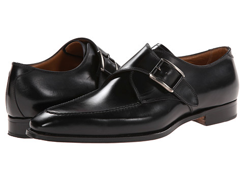 Gravati - Calf Leather Buckle Monk Strap (Black) Men's Monkstrap Shoes