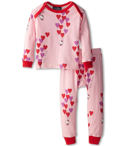 BedHead Kids - Hello Kitty Stretch L/S PJ (Infant) (Hello Kitty Floating Hearts) Girl