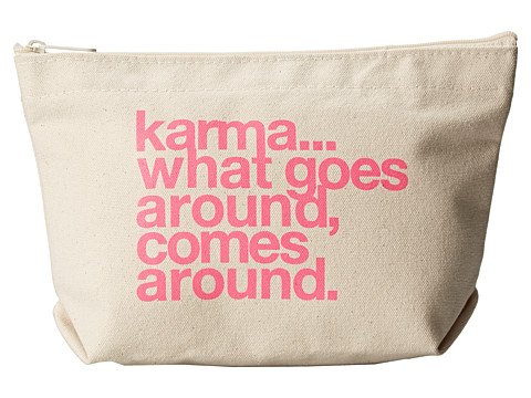Dogeared - Karma What Goes Around Lil' Zip (Canvas) Handbags