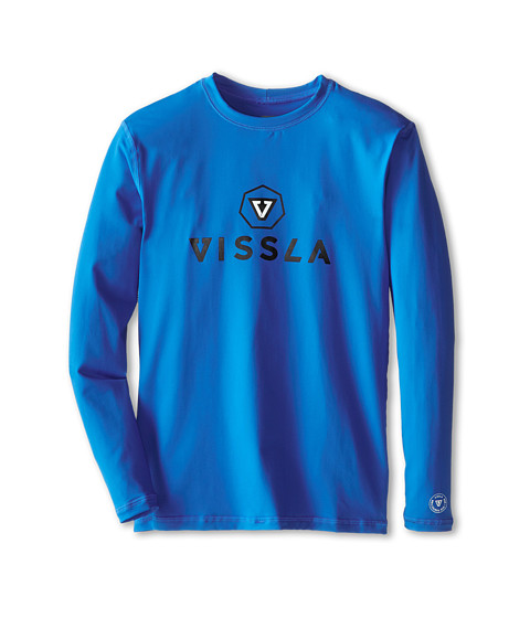 VISSLA Kids - Every Day L/S Surf (Big Kids) (Royal Wash) Boy