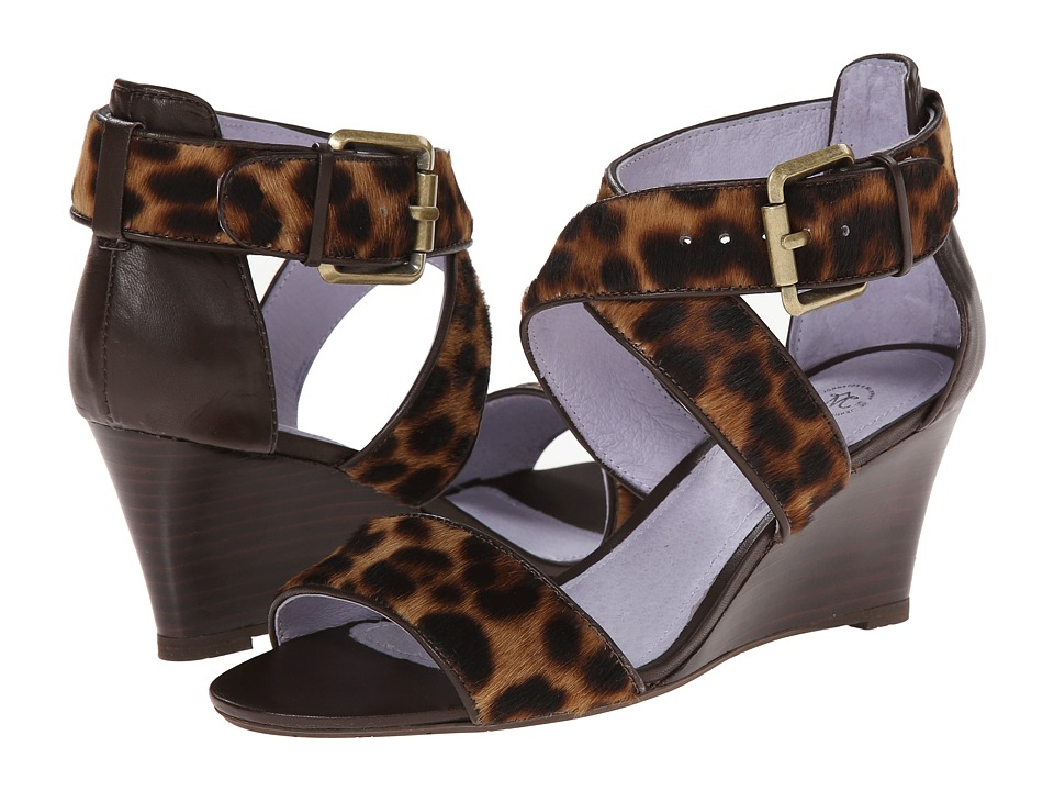 Johnston & Murphy - Marlena Cross Ankle (Leopard Haircalf) Women's Shoes