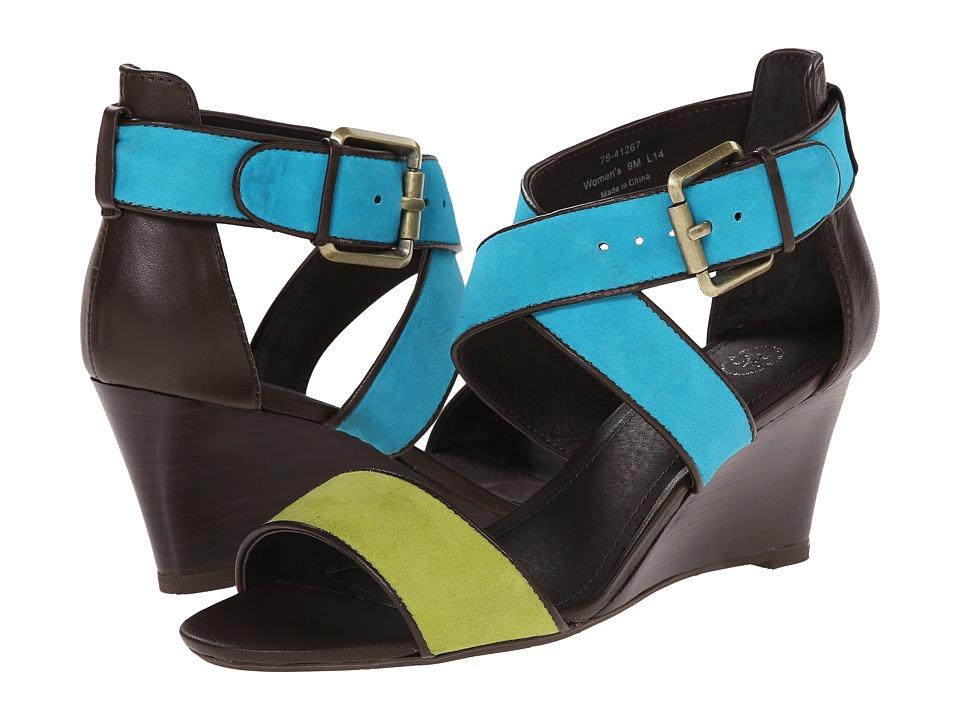 Johnston & Murphy - Marlena Cross Ankle (Kiwi/Peacock Suede) Women's Shoes