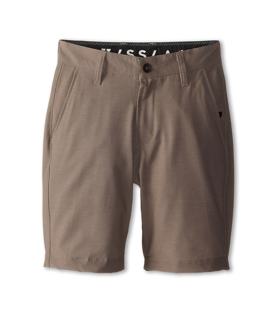 VISSLA Kids - High Tide Walkshort (Big Kids) (Khaki) Boy's Shorts