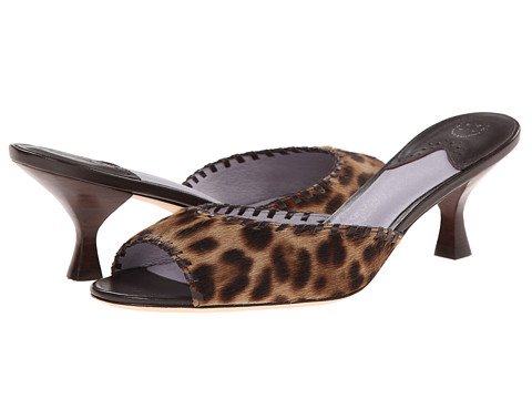 Johnston & Murphy - Katy Whipstitch Slide (Leopard Haricalf/Brown Whipstitch) Women's Shoes