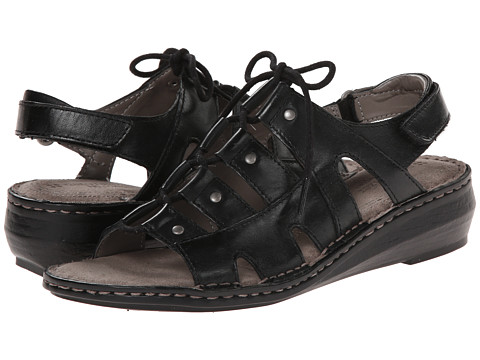 Naturalizer - Leona (Black Leather) Women's Sandals