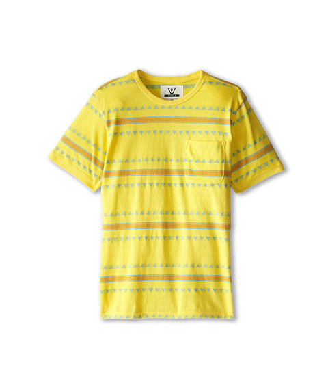 VISSLA Kids - Rasp S/S Crew (Big Kids) (Dusty Yellow) Boy