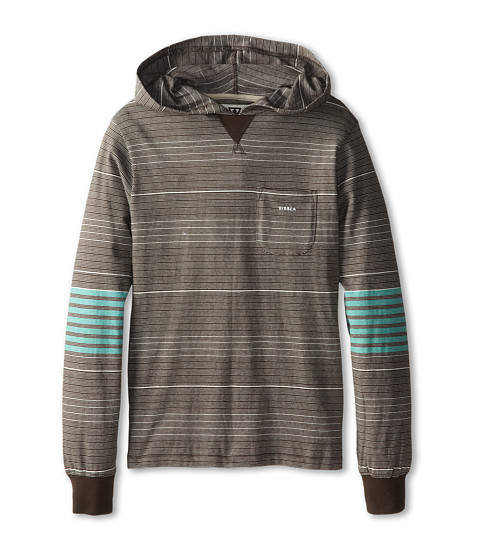 VISSLA Kids - Laminator L/S Knit (Big Kids) (Charcoal Heather) Boy's Long Sleeve Pullover