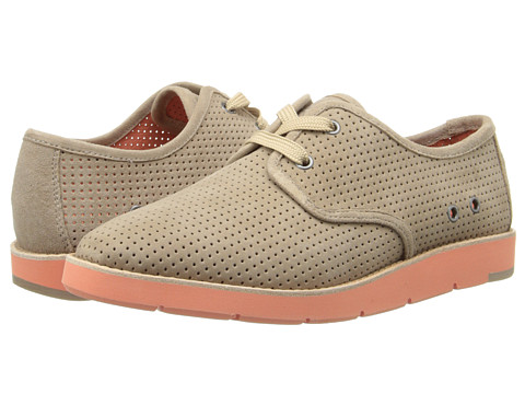 Johnston & Murphy - Bree Lace (Taupe Kid Suede/Coral/Taupe Lace) Women