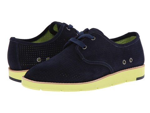 Johnston & Murphy - Bree Lace (Navy Kid Suede/Navy/Kiwi Lace) Women's Shoes