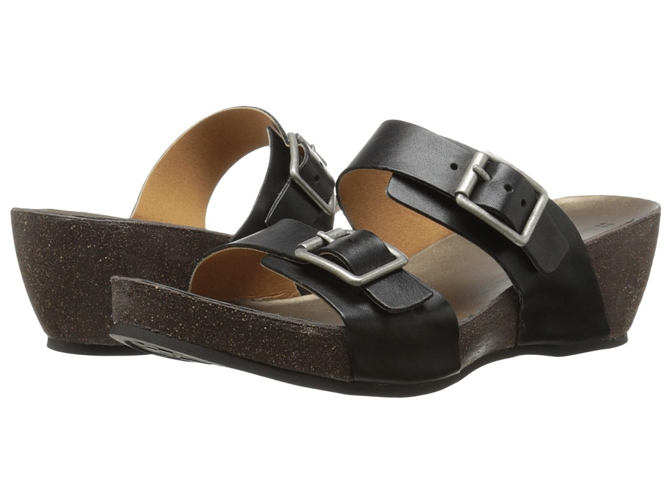 Naturalizer - Oxygen (Black Leather/Cork Bottom) Women's Sandals