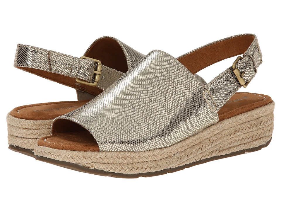 Naturalizer - Praline (Gold Metallic Linen) Women's Sandals