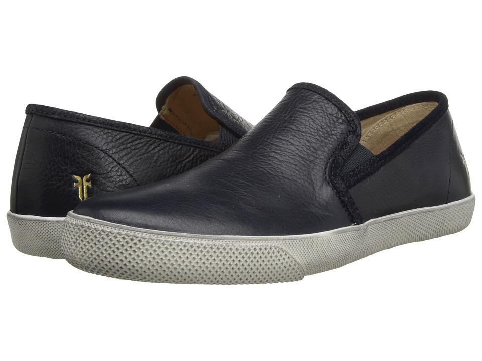 Frye - Chambers Gore (Navy Soft Pebbled Full Grain) Men's Slip on Shoes