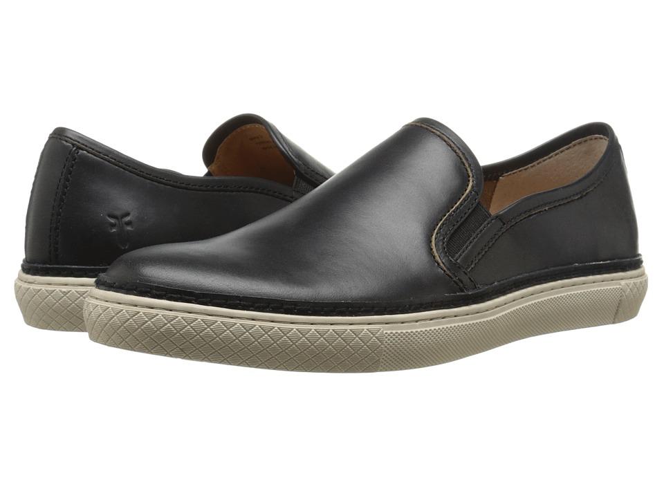 Frye - Gates Slip-On (Black Smooth Pull Up Leather) Men's Slip on Shoes
