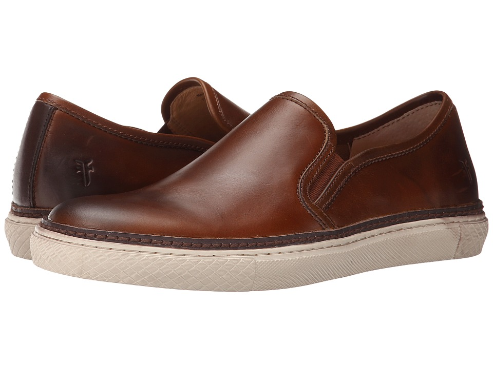 Frye - Gates Slip-On (Whiskey Smooth Pull Up Leather) Men's Slip on Shoes