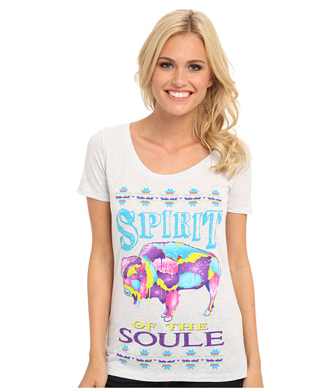Gypsy SOULE - Spirit of My Soule Buffalo (White) Women's Short Sleeve Pullover