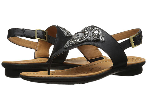 Naturalizer - Waverly (Black Smooth) Women's Sandals