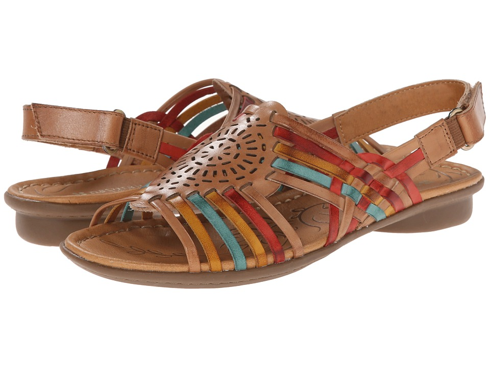 Naturalizer - Wendy (Camelot/Red/Yellow/Turquoise Leather) Women's Sandals