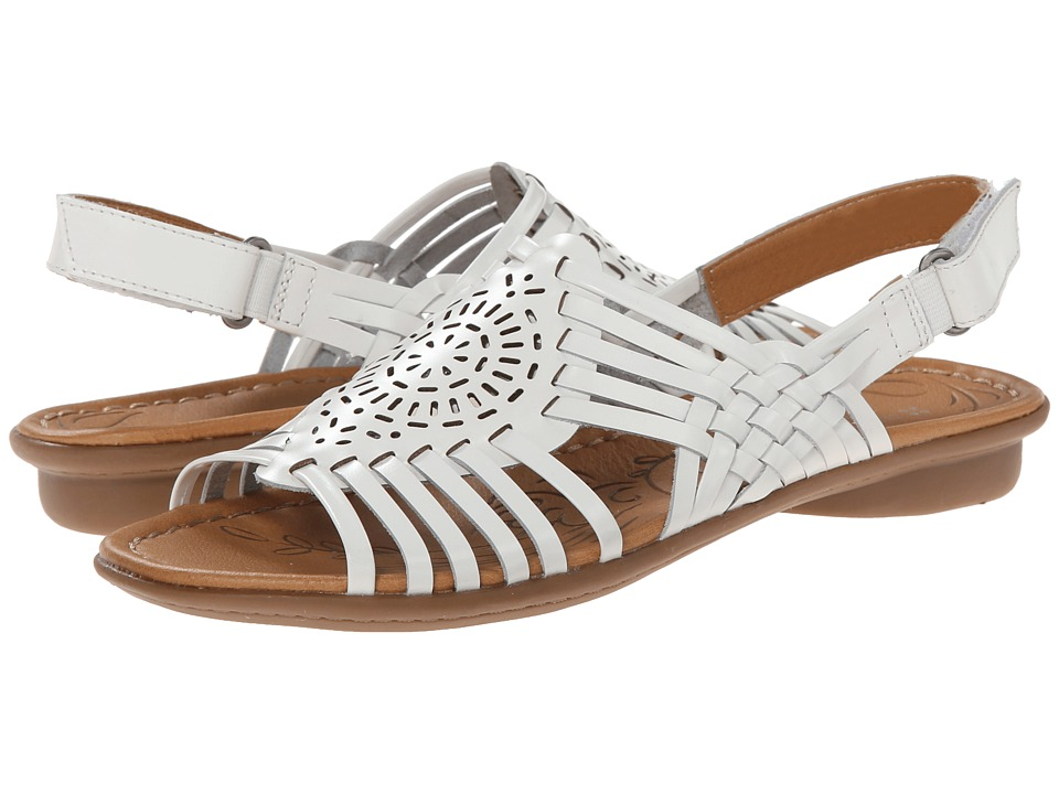 Naturalizer - Wendy (White Leather) Women's Sandals