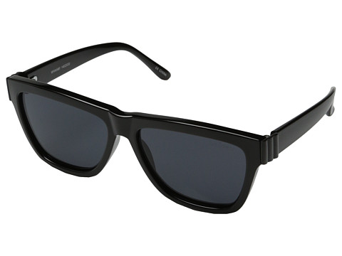 Le Specs - Whaam! (Black/Satin Black Metal/Smoke Mono Lens) Fashion Sunglasses