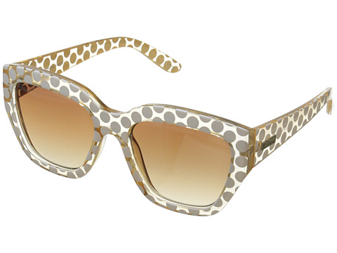 Le Specs - Hermosa (Crystal Blonde/White Spot/Brown Grad with Flash Lens) Fashion Sunglasses