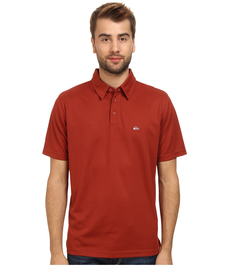 Quiksilver Waterman - Waterman Collection Water Polo 2 Knit Polo (Port) Men's Short Sleeve Pullover