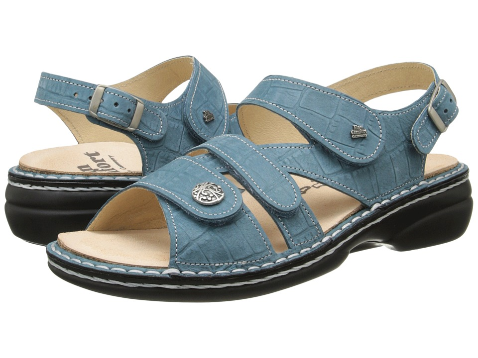 Finn Comfort - Gomera - S (Turquoise) Women's Sling Back Shoes