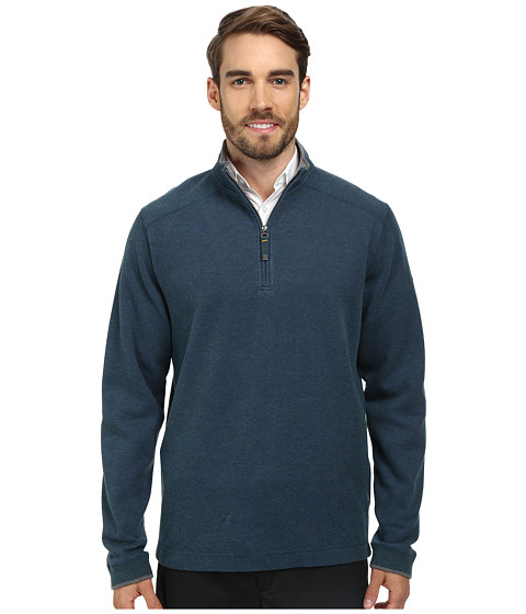 Quiksilver Waterman - Point Sur 2 Fleece Sweatshirt (Midnight Blue) Men