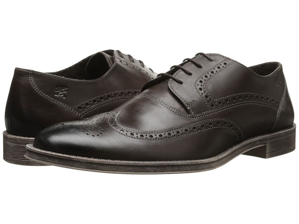 Stacy Adams - Callahan (Brown Oiled Pull-Up) Men's Lace Up Wing Tip Shoes
