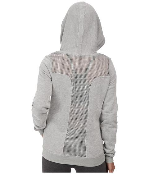 Trina Turk - French Terry Mesh Back Zip Hoodie (Grey) Women's Sweatshirt
