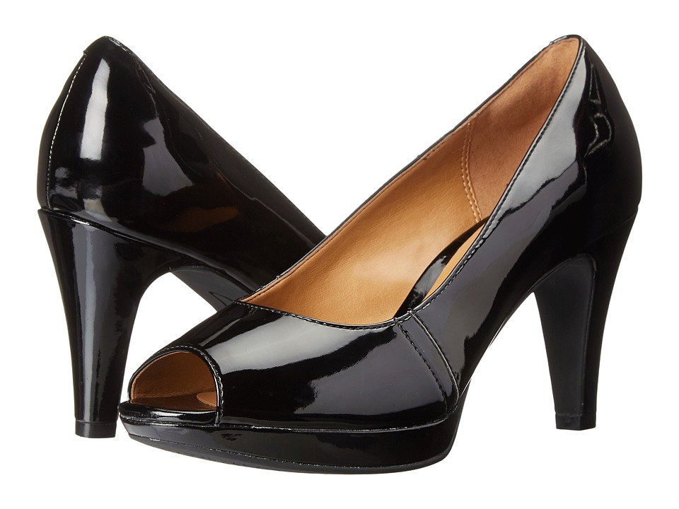 Clarks - Narine Row (Black Patent) Women's Shoes