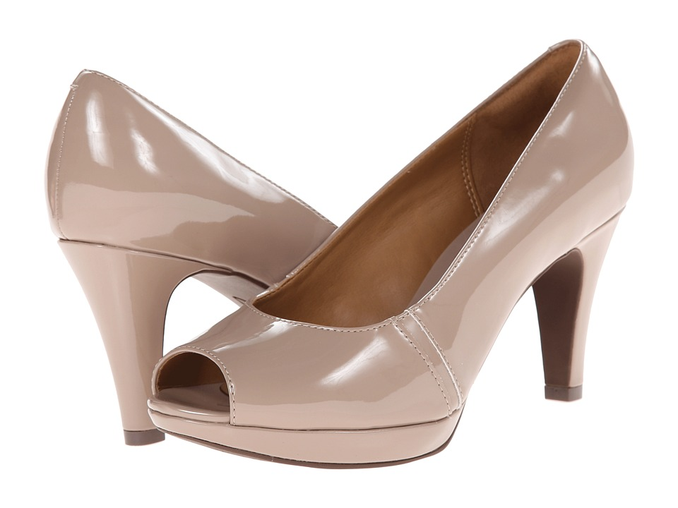 Clarks - Narine Row (Taupe Patent) Women's Shoes