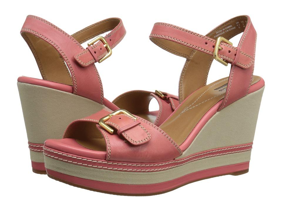 Clarks - Zia Castle (Coral) Women's Shoes