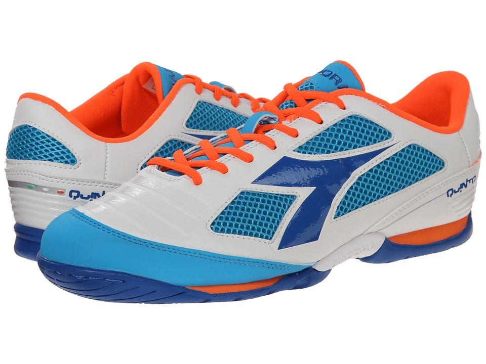 Diadora - Quinto IV ID (White/Blue) Men's Shoes