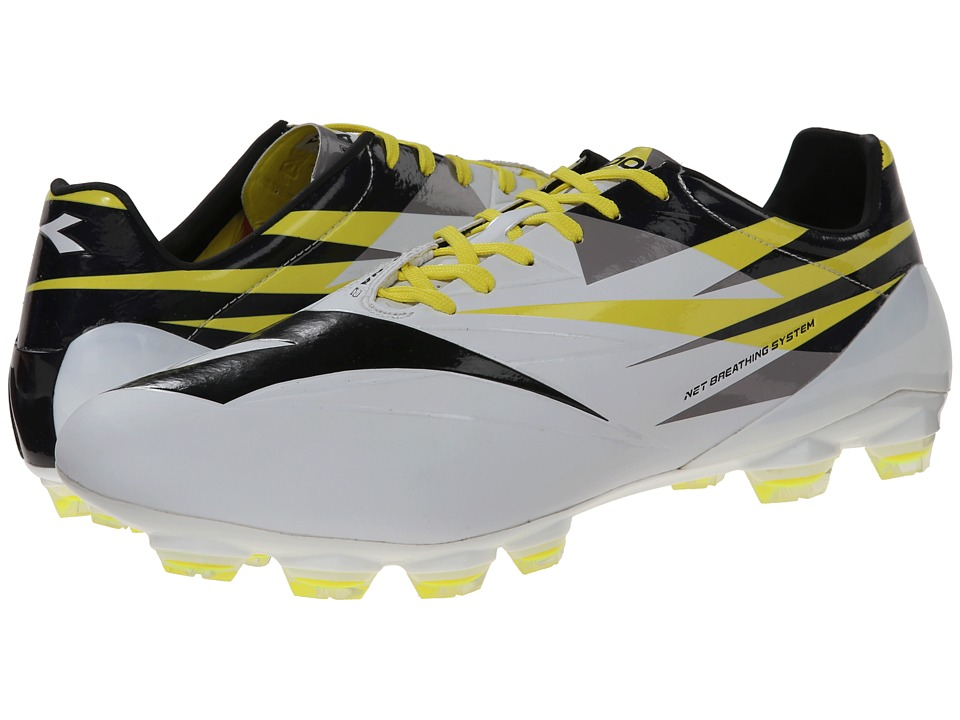 Diadora - DD-NA 2A GLX 14 (White/Black/Fluo) Men's Soccer Shoes