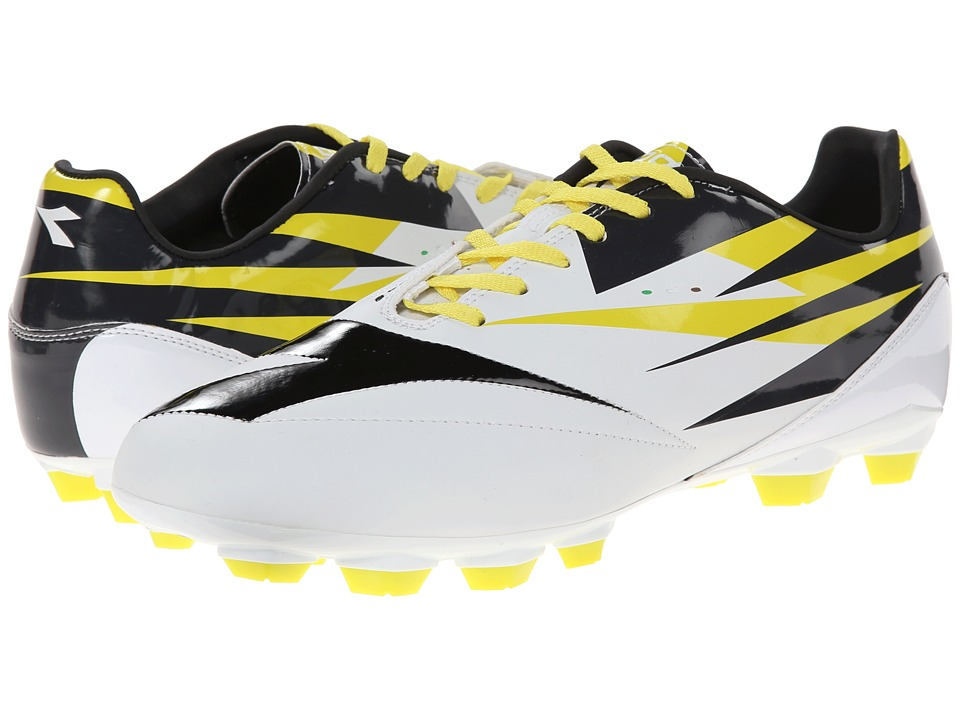 Diadora - DD-NA 2 R LPU (White/Black/Fluo) Men's Shoes