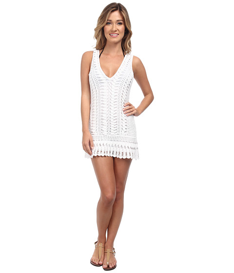 Melissa Odabash - Alexis Dress Cover-Up (White) Women's Swimwear