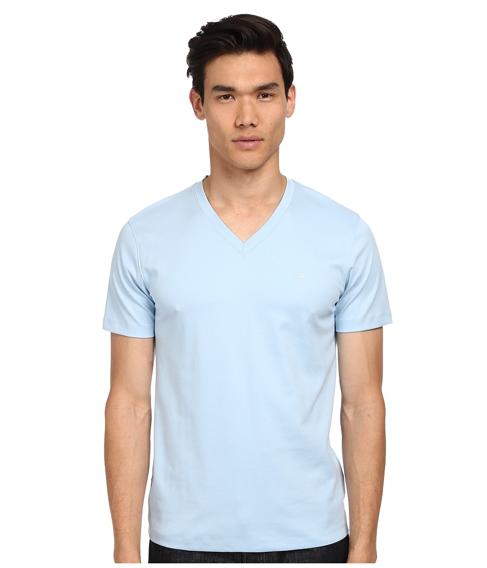 Michael Kors - Sleek MK V-Neck Tee (Mist) Men's T Shirt