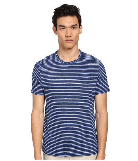 Michael Kors - Linen Stripe Tee (Tidal) Men's T Shirt