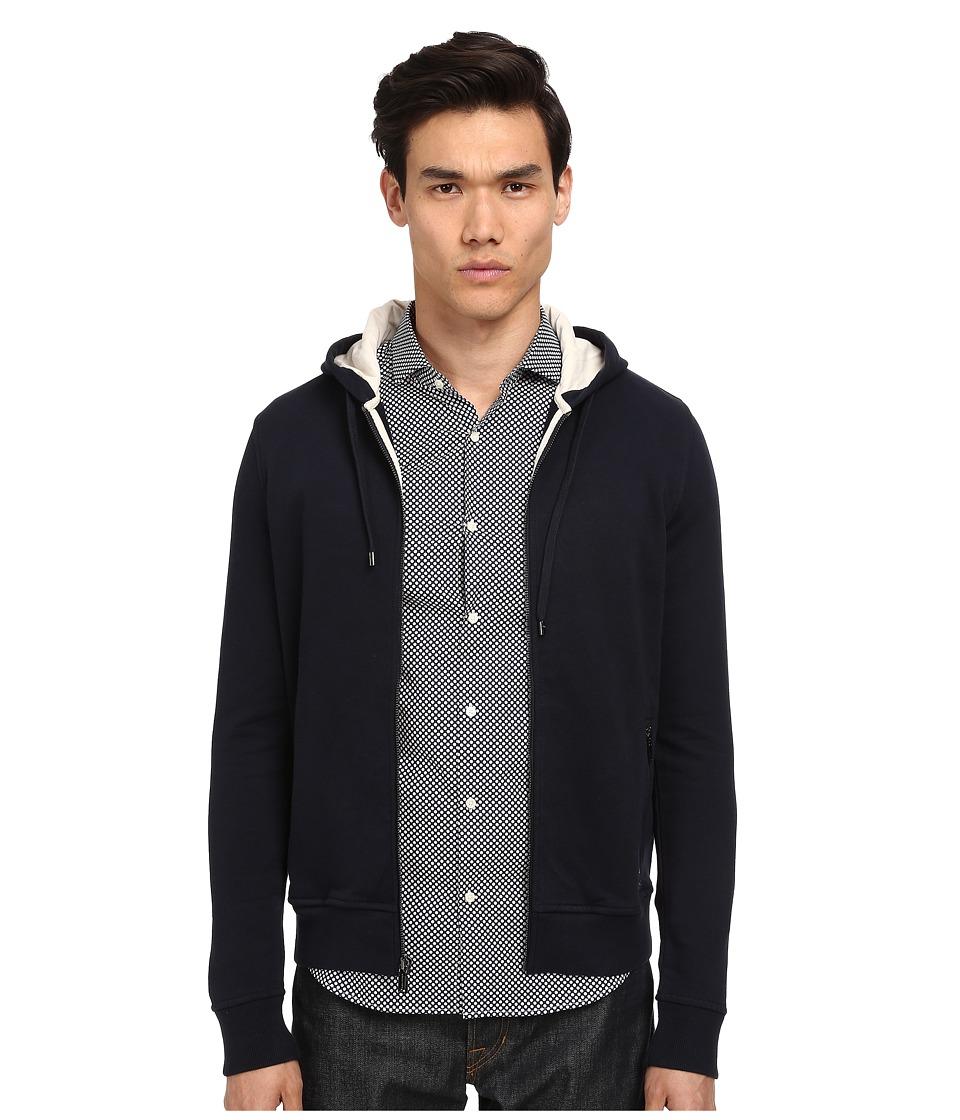 Michael Kors - Ecru Trim Hoodie (Midnight) Men's Sweatshirt