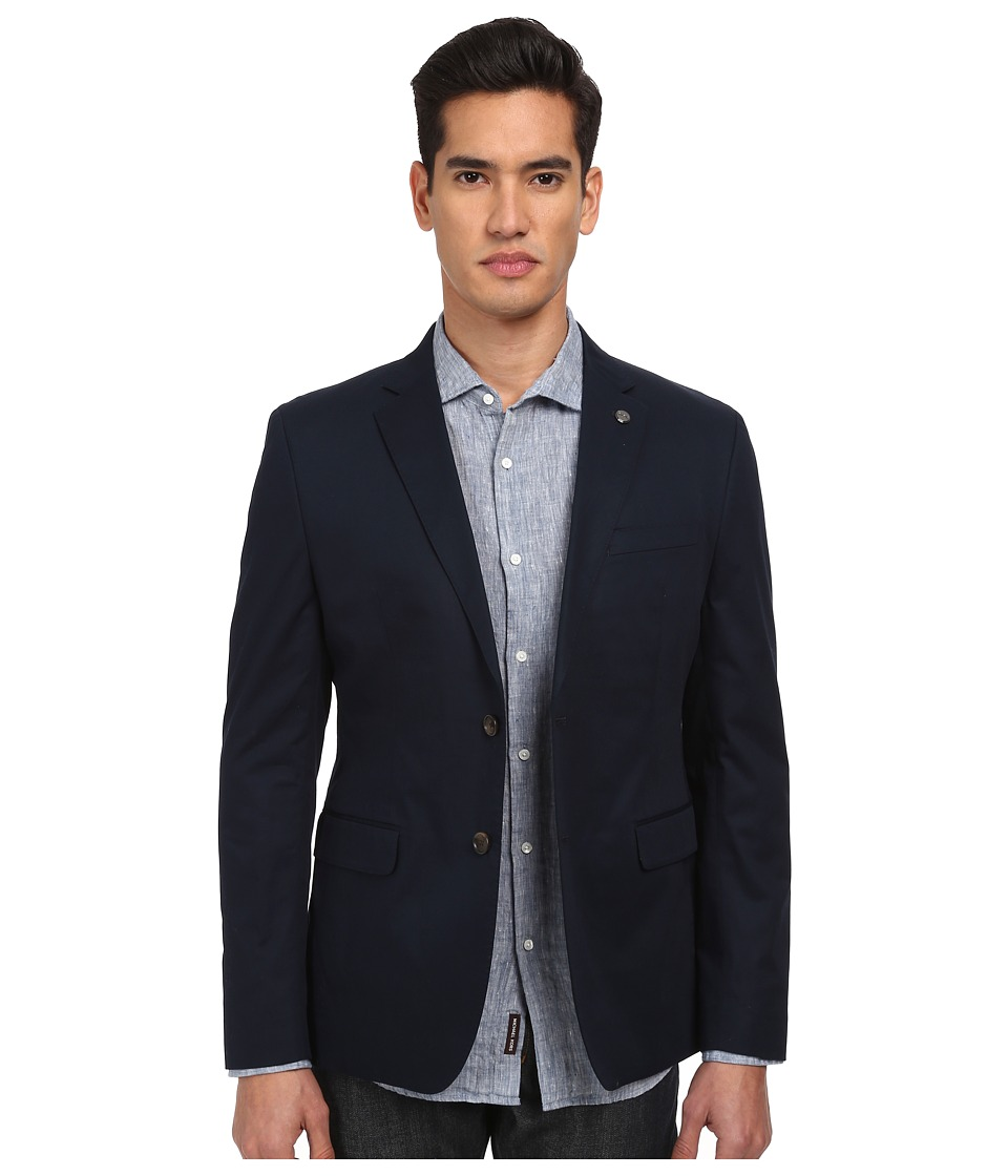 Michael Kors - Cotton Twill Blazer (Midnight) Men's Jacket